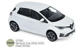 Renault  - Zoe ZE50 2020 pearle white - 1:43 - Norev - 517561 - nor1517561 | The Diecast Company