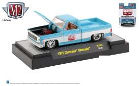 Chevrolet  - Silverado 1975 blue/white - 1:64 - M2 Machines - 32500MJS25 - M2-32500MJS25 | The Diecast Company