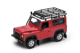 Land Rover  - Defender off road red/white - 1:24 - Welly - 22498SP - welly22498SPrw | The Diecast Company