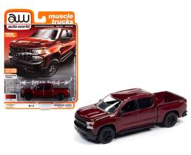 Chevrolet  - Silverado 2019 red - 1:64 - Auto World - SP043A - AWSP043A | The Diecast Company