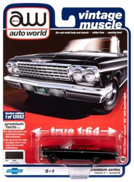 Chevrolet  - Impala 1962 black - 1:64 - Auto World - SP045B - AWSP045B | The Diecast Company