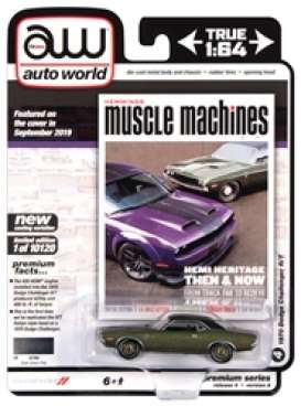 Dodge  - Challenger 1970 green/black - 1:64 - Auto World - SP050A - AWSP050A | The Diecast Company