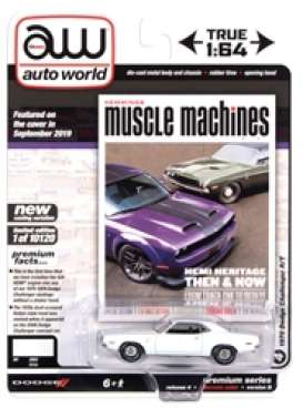 Dodge  - Challenger 1970 white - 1:64 - Auto World - SP050B - AWSP050B | The Diecast Company