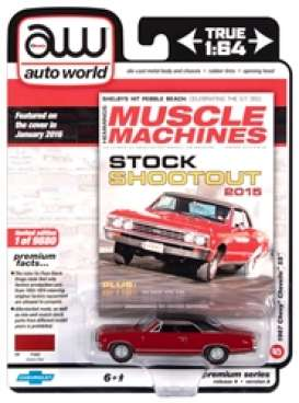Chevrolet  - Chevelle SS 1967 red/black - 1:64 - Auto World - SP051A - AWSP051A | The Diecast Company