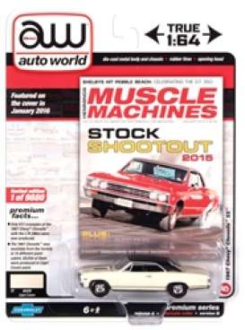 Chevrolet  - Chevelle SS 1967 cream/black - 1:64 - Auto World - SP051B - AWSP051B | The Diecast Company