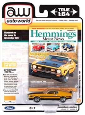 Mustang  - Boss 351 1971 yellow gold/black - 1:64 - Auto World - SP052A - AWSP052A | The Diecast Company