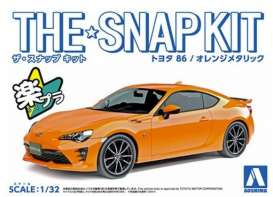 Toyota  - 86 Orange - 1:32 - Aoshima - 05419 - abk05419 | The Diecast Company