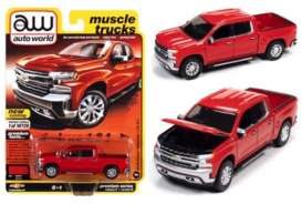 Chevrolet  - Silverado 2019 red - 1:64 - Auto World - SP053B - AWSP053B | The Diecast Company
