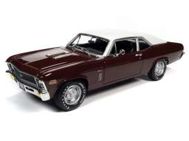 Chevrolet  - Nova SS 396 1970 black cherry - 1:18 - Auto World - AMM1230 - AMM1230 | The Diecast Company