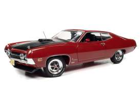 Ford  - Torino Cobra 1970 red - 1:18 - Auto World - AMM1234 - AMM1234 | The Diecast Company