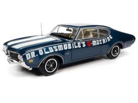 Oldsmobile  - Cutlass 442 1969 blue - 1:18 - Auto World - AMM1235 - AMM1235 | The Diecast Company