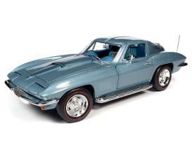 Chevrolet  - Corvette 1967 blue - 1:18 - Auto World - AMM1241 - AMM1241 | The Diecast Company