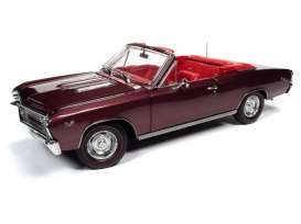 Chevrolet  - 1967 maroon - 1:18 - Auto World - AMM1244 - AMM1244 | The Diecast Company