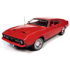 Ford  - Mustang 1971 red - 1:18 - Auto World - AWSS126 - AWSS126 | The Diecast Company