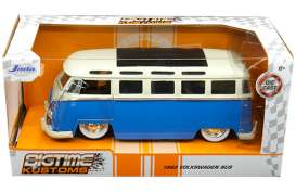 Volkswagen  - bus T1 1962 blue/white - 1:24 - Jada Toys - 99056 - jada99056 | The Diecast Company