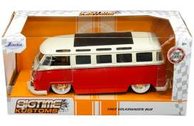 Volkswagen  - bus T1 1962 red/white - 1:24 - Jada Toys - 99058 - jada99058 | The Diecast Company