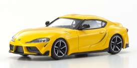 Toyota  - GR Supra yellow - 1:64 - Kyosho - 7110y - kyo7110y | The Diecast Company