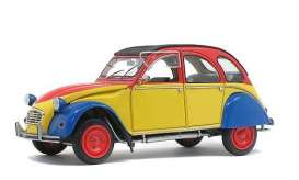 Citroen  - 2CV6 1985 yellow/red/blue - 1:18 - Solido - 1805011 - soli1805011 | The Diecast Company