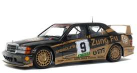 Mercedes Benz  - 190E 1990 black/gold - 1:18 - Solido - 1801003 - soli1801003 | The Diecast Company