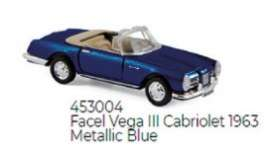 Facel  - Vega III 1963 blue - 1:87 - Norev - 453004 - nor453004 | The Diecast Company