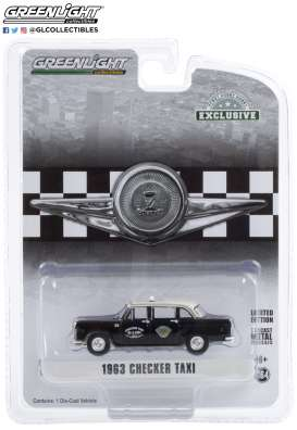 Checker  - 1963 black - 1:64 - GreenLight - 30207 - gl30207 | The Diecast Company