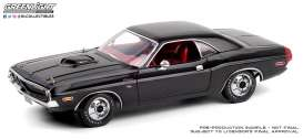 Dodge  - Challenger black/red - 1:18 - GreenLight - 13585 - gl13585 | The Diecast Company
