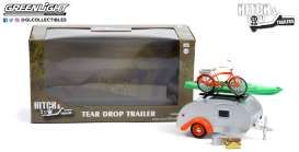 Teardrop Caravan  - silver/orange - 1:24 - GreenLight - 18460B - gl18460B | The Diecast Company