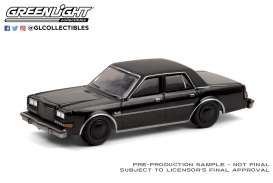Plymouth  - Gran Fury 1987 black - 1:64 - GreenLight - 28050C - gl28050C | The Diecast Company