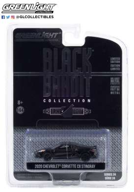 Chevrolet  - Corvette Stingray 2016 black - 1:64 - GreenLight - 28050F - gl28050F | The Diecast Company