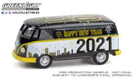 Volkswagen  - Type 2 Panel 2020 black/white - 1:64 - GreenLight - 30222 - gl30222 | The Diecast Company