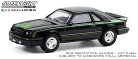 Ford  - Mustang 1980 black/green - 1:64 - GreenLight - 30228 - gl30228 | The Diecast Company