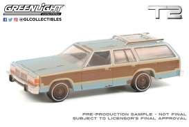 Ford  - LTD 1980 blue/brown - 1:64 - GreenLight - 44920C - gl44920C | The Diecast Company