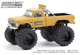 Ford  - F-250 Monster Truck 1968 yellow - 1:64 - GreenLight - 49080B - gl49080B | The Diecast Company