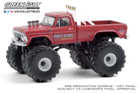 Ford  - F-250 Monster Truck 1978 red - 1:64 - GreenLight - 49080C - gl49080C | The Diecast Company