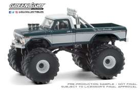 Ford  - F-250 Monster Truck 1979 green/grey - 1:64 - GreenLight - 49080D - gl49080D | The Diecast Company