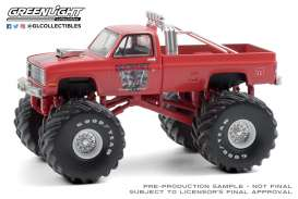Chevrolet  - Silverado Monster Truck 1984 red - 1:64 - GreenLight - 49080E - gl49080E | The Diecast Company