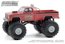 Chevrolet  - Silverado Monster Truck 1987 red - 1:64 - GreenLight - 49080F - gl49080F | The Diecast Company