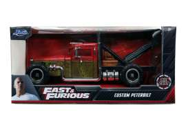 Fast & the Furious Peterbilt - Hobbs & Shaw Custom Truck 2019 cream/orange - 1:24 - Jada Toys - 32089 - jada32089 | The Diecast Company