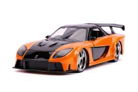 Mazda  - RX-7 F&F  1993 orange/black - 1:32 - Jada Toys - 30736 - jada30736 | The Diecast Company