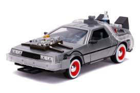 Delorean  - Back to the Future III grey-silver - 1:24 - Jada Toys - 32166 - jada32166 | The Diecast Company