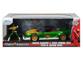 Honda  - NSX *Power Ranger* 2002 green/white/yellow - 1:24 - Jada Toys - 31909 - jada31909 | The Diecast Company