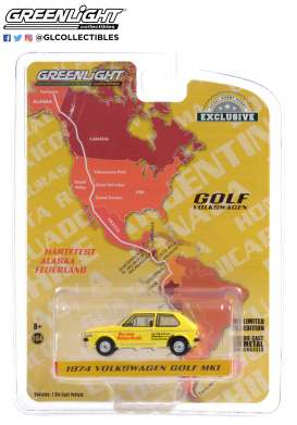 Volkswagen  - Golf Mk1 1974 yellow/red - 1:64 - GreenLight - 30239 - gl30239 | The Diecast Company