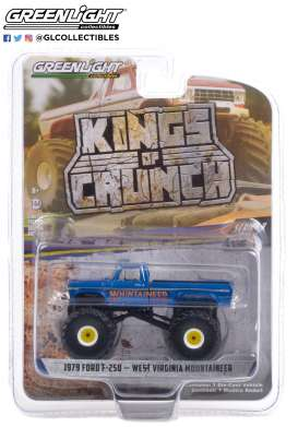 Ford  - F-250 1979 blue - 1:64 - GreenLight - 49090E - gl49090E | The Diecast Company
