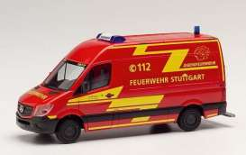 Mercedes Benz  - Sprinter red - 1:87 - Herpa - H095457 - herpa095457 | The Diecast Company
