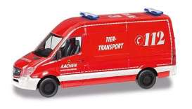 Mercedes Benz  - Sprinter red - 1:87 - Herpa - H095389 - herpa095389 | The Diecast Company