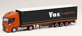 Iveco  - Stralis orange/black - 1:87 - Herpa - H312110 - herpa312110 | The Diecast Company