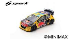 Peugeot  - 208 2019 yellow/blue - 1:43 - Spark - S7822 - spaS7822 | The Diecast Company