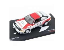 Toyota  - Celica #2 1990 red/white - 1:43 - Magazine Models - MagRAcelica1990 | The Diecast Company