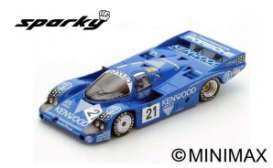 Porsche  - 956 1983 Blue/Red/Blue - 1:64 - Spark - Y177 - spaY177 | The Diecast Company