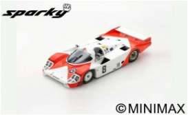 Porsche  - 956 1983 Red/White - 1:64 - Spark - Y179 - spaY179 | The Diecast Company